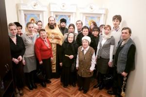 Молебен в часовне ДРБ, 2012 г.