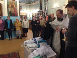 Молебен свт.Луке, освящение медицинских халатов, 11 июня 2016