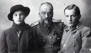 Последнее фото Евгения Сергеевича Боткина с детьми Глебом и Татьяной